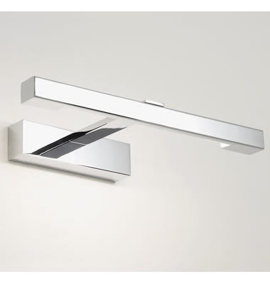 Astro kashima 7348 1 light ip44 led bathroom mirror light Polished chrome bathroom mirrors